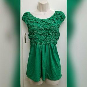 Anthropologie Deletta green blouse